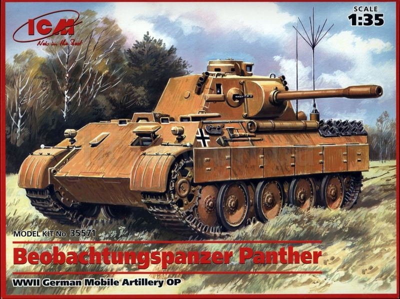 Немецкий подвижный АНП Beobachtungspanzer Panther ICM 35571