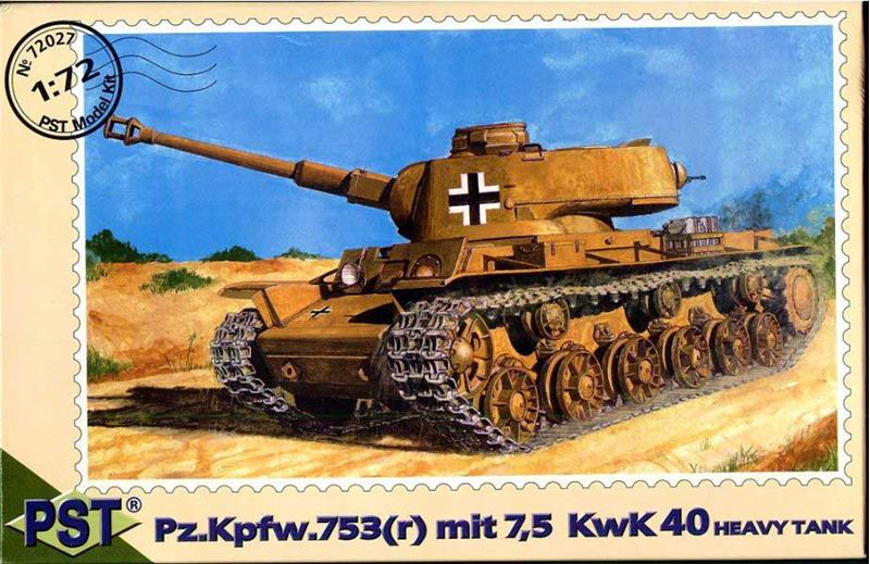 Pz.Kpfw.753 (r) mit 7,5 kwK 40 German heavy tank PST 72027