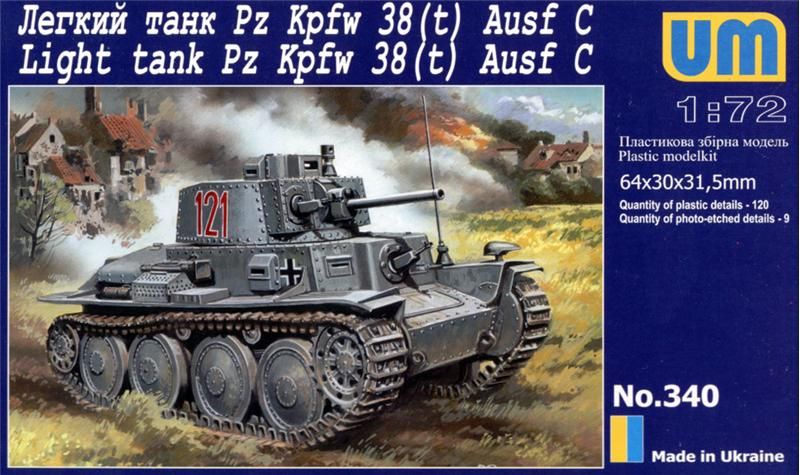 Танк Pz Kpfw 38(t) Ausf.C Unimodels 340
