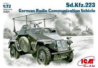 Немецкий бронеавтомобиль радиосвязи Sd.Kfz.223 ICM 72421