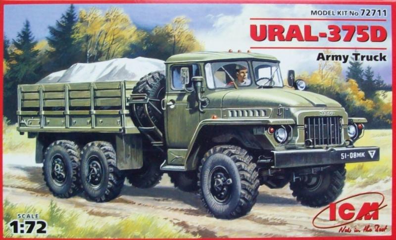 Армейский грузовой автомобиль Урал 375Д ICM 72711