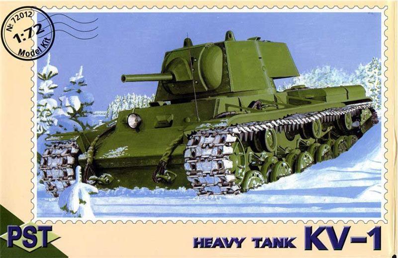 Сборная модель советского танка КВ-1 PST 72012