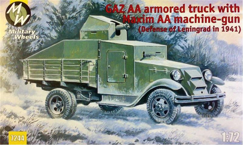 Бронемашина на базе автомобиля ГАЗ-АА с пулеметом «Максим» Military Wheels 7244