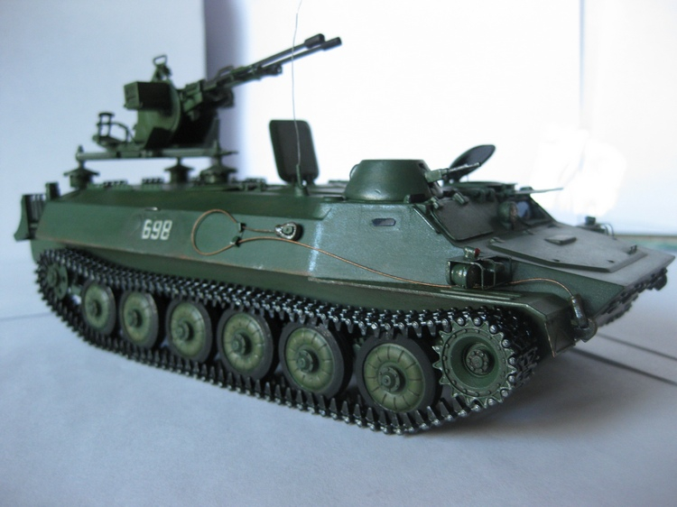 Гусеничный транспортер МТ-ЛБМ с зенитной установкой ЗУ-23-2 Skif 229