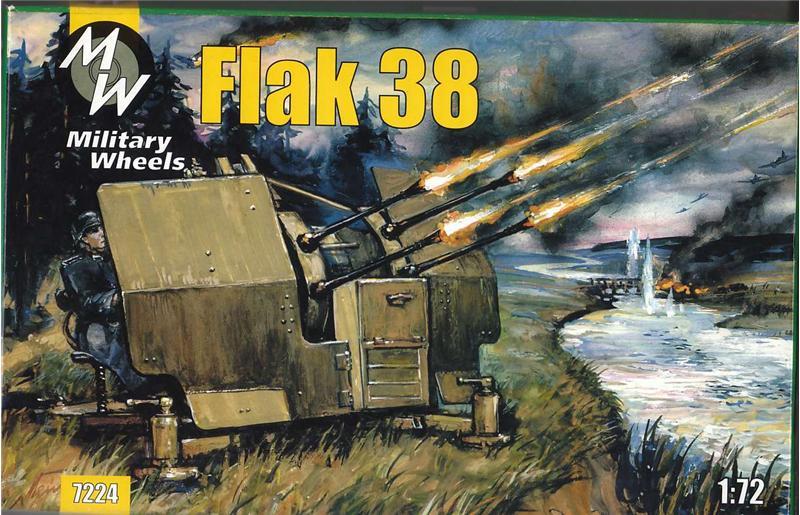Германская 10.5 cm зенитная пушка FlaK 38 Military Wheels 7224