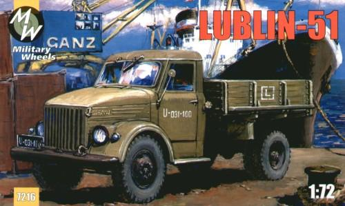 Польский грузовик Lublin-51 Military Wheels 7216