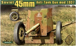 Советская 45мм противотанковая пушка образца 1937г Ace 72242
