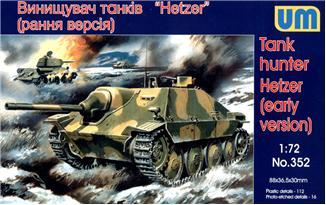 Истребитель танков «Hetzer» (ранняя версия) Unimodels 352