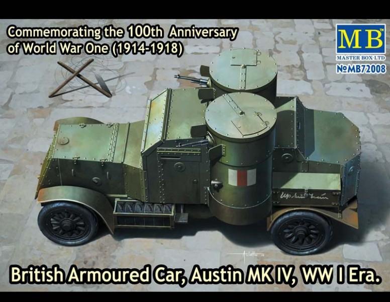 Бронеавтомобиль Austin Mk.IV, 1914-1918 Master Box 72008