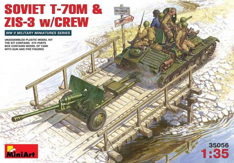 Cоветский танк Т-70М С пушкой ЗИС-3 и экипажем w/CREW MiniArt 35056