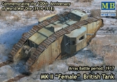 Британский танк Mk II Female, битва под Аррасом, 1917