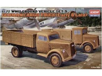 WWII GROUND VEHICLE SET - 5 1/72 Academy 13404