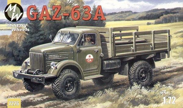 Советский грузовой автомобиль ГАЗ-63А  повышенной проходимости Military Wheels 7226
