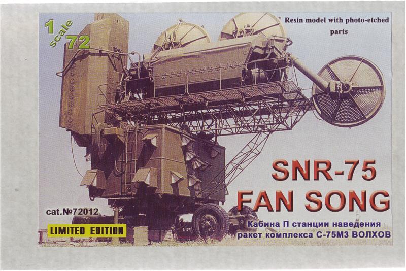 Модель кабины станции наведения ракет комплекса С-75М3 Волхов ZZ MODELL 72012