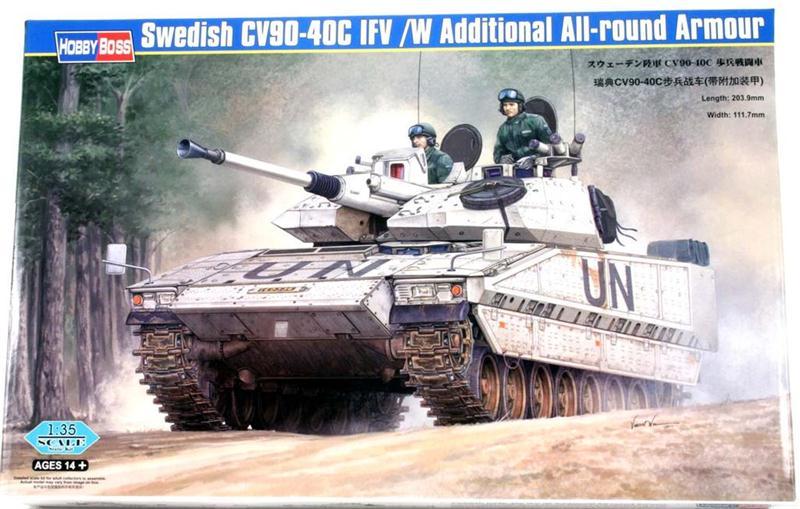 Шведская БМП CV90-40C с дополнительной броней Hobby Boss 82475