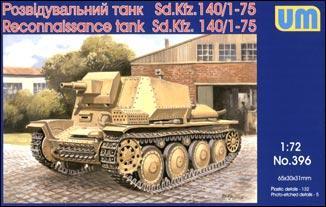 Разведывательный танк Sd.Kfz.140/1-75 Unimodels 396
