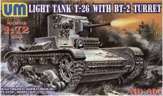 Советский легкий танк T-26/БТ-2 UMT 405
