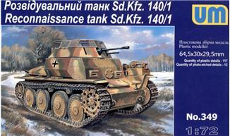 Разведывательный танк Sd.Kfz.140/1 Unimodels 349