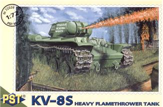 Сборная модель советского тяжёлого огнемётного танка КВ-8С PST 72026