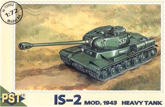 Пластиковая модель советского тяжелого танка ИС-2 PST 72002
