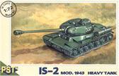 Пластиковая модель советского тяжелого танка ИС-2