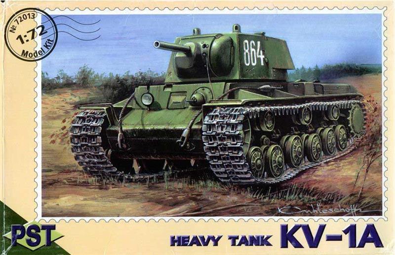 Пластиковая модель советского танка КВ-1А PST 72013