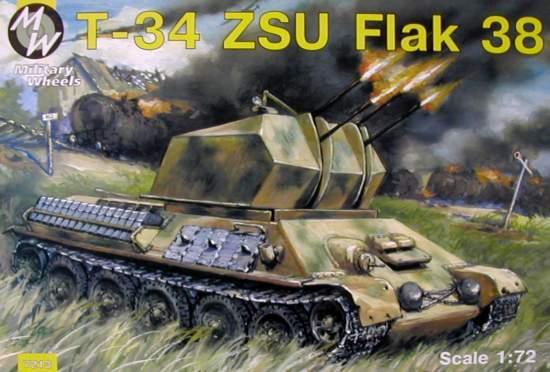 Самоходная зенитная установка ЗСУ-38 на базе танка T-34 Military Wheels 7213