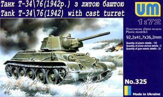 Танк T-34-76 с литой башней Unimodels 325