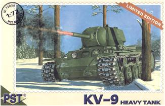 Сборная модель танка КВ-9 PST 72034