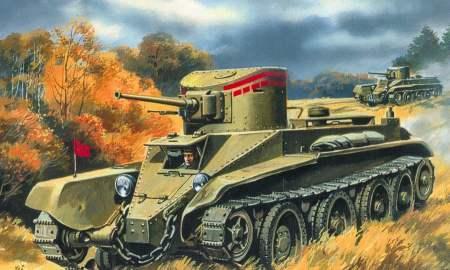 Колесно-гусеничный танк БТ-2 UMT 302