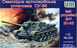 Самоходная артиллерийская установка Су-85 Unimodels 333
