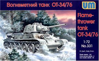 Огнеметный танк OT-34-76 Unimodels 331
