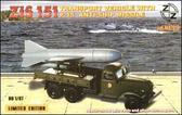 Грузовик ЗИС-151 с противокорабельной ракетой П-15
