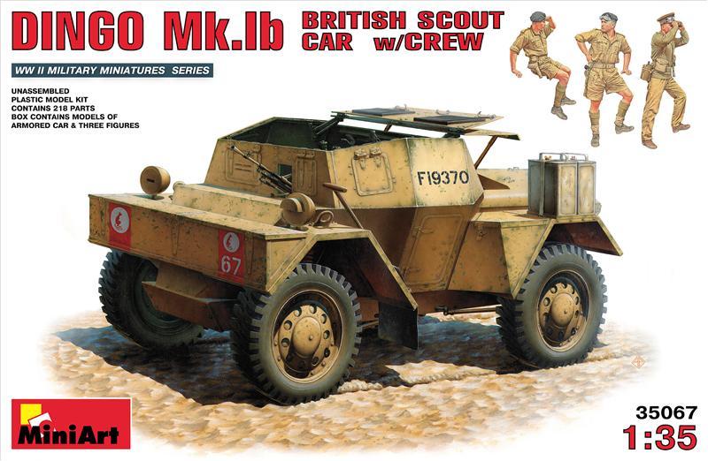 Британский разведывательный автомобиль с экипажем DINGO Mk.1b MiniArt 35067