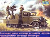 ГАЗ-ААА с счетверенной зенитной установки с пулеметом Максим