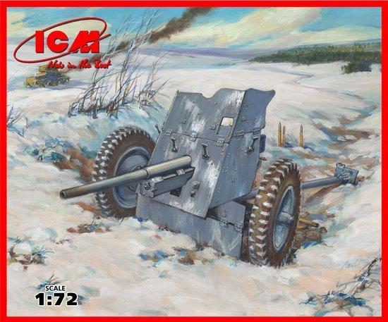 Немецкая противотанковая пушка 37 мм Pak 36 ICM 72251