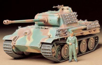Немецкий танк Panther Type G cо стальными катками Tamiya 35174