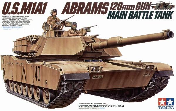Американский танк U.S.M1A1 Abrams Tamiya 35156