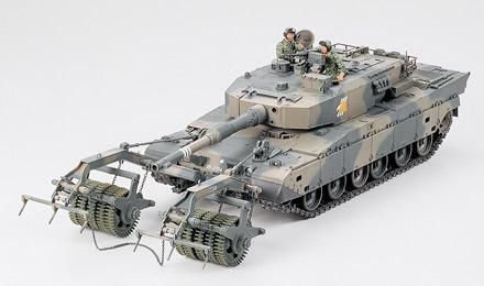 Японский танк Type 90 с минным тралом Tamiya 35236
