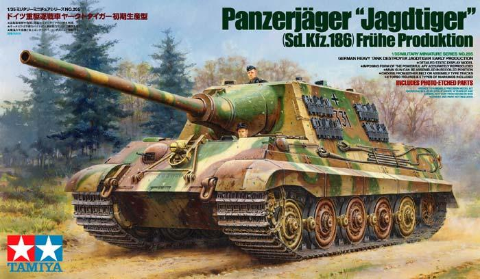 Немецкая тяжелая САУ Jagdtiger с фототравленной решеткой и 2мя типами гусениц Tamiya 35295