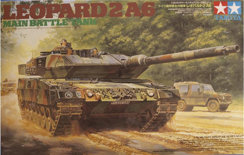 Немецкий танк Леопард 2 A6 Tamiya 35271
