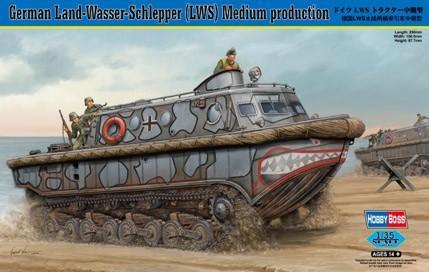 Немецкий транспортный тягач-амфибия Land-Wasser-Schlepper (LWS) Medium production Hobby Boss 82433