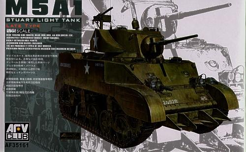 Танк M5A1 Stuart LATE TYPE Afv-Club 35161