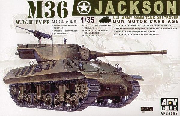 САУ M36 Jackson Afv-Club 35058