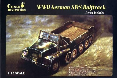 WWII German SWS Halftrack Caesar 7210
