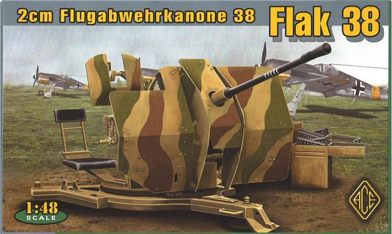 Немецкое 20-мм зенитное орудие Flugabwehrkanone 38 Flak 38 Ace 48103