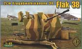 Немецкое 20-мм зенитное орудие Flugabwehrkanone 38 Flak 38