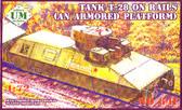 Танк Т-28 на рельсах (бронеплатформа Бепо)