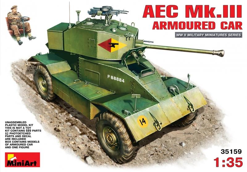 Британский бронеавтомобиль AEC Mk.III MiniArt 35159