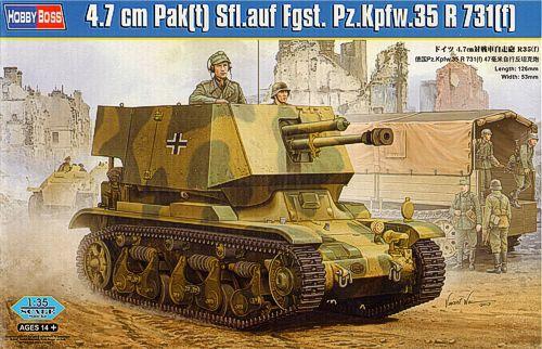 САУ с чешской 4.7 cm противотанковой пушкой на шасси R35 Hobby Boss 83807